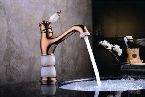 New Design Single Handle Zf-704 Jade Brass Basin Mixer pictures & photos