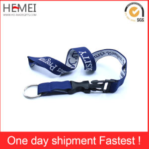 Lanyard with Plastic Bulldog Clip Ribbon pictures & photos