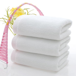 Custom Soft Plain White Cotton Towels for Bathroom pictures & photos