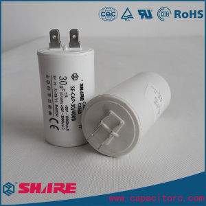 Cbb60 AC Motor Run Capacitor Plastic White Capacitor Pump Capacitor pictures & photos