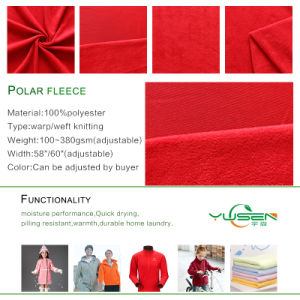 Polar Fleece Fabric for Different Kinds Blanket pictures & photos