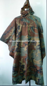 Army Camouflage Waterproof Breathable Poncho PU Coating pictures & photos