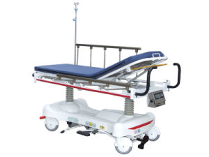 Luxurious Hydraulic Rise-and-Fall Stretcher Cart with Weight Readings pictures & photos