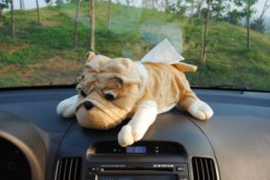Car Decoration Dog Shape Plush Stuffed Tissue Box Cover pictures & photos