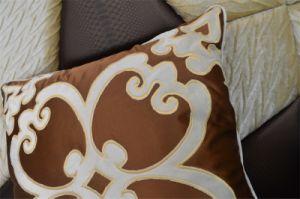Embroidery Decorative Cushion Fashion Velvet Pillow (EDM0331) pictures & photos