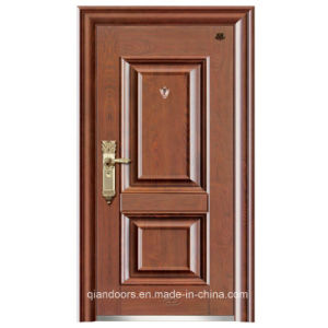 China Wood Grain Galvanized Security Steel Door with Elegant and Classic Surface pictures & photos