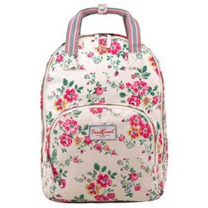 Waterproof Canvas Floral Patterns Multi Pocket Backpack (597760)