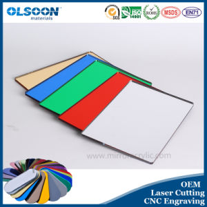 Olsoon Laser Cutting Service Colored PMMA Plastic Sheet Acrylic Mirror Sheet pictures & photos