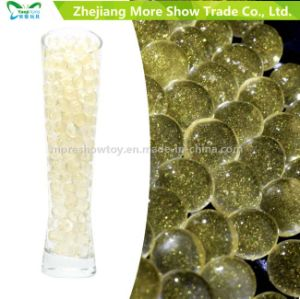 Golden Color Glitter Crystal Soil Water Gel Beads Wedding Decoration pictures & photos