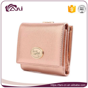 Small Size Colorful Lambskin Leather Wallet Purse for Women pictures & photos