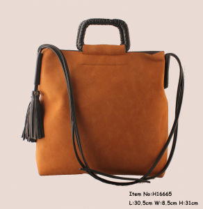 New Women′ Fashion Tote Bags with Tassel pictures & photos
