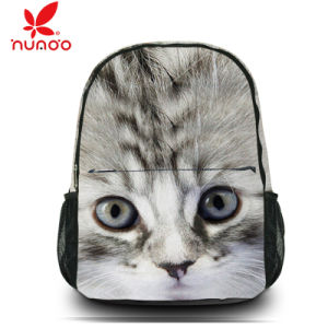 Fashion Canvas Travel Satchel Shoulder Bag Backpack Cute Cat School Rucksack pictures & photos