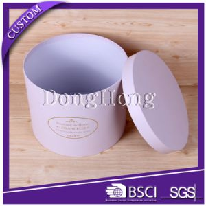 Cheap Price Cardboard Paper Round Flower Box Packaging with Lid pictures & photos