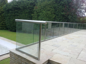 Apartment / Commercial Glass Balustrade with Aluminum U Based Channel pictures & photos