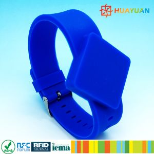Waterpardk Adjustable Contactless Durable RFID Silicone Wristband pictures & photos