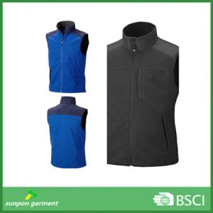 Causal Style Outdoor High Collar Man Blue Polar Fleece Vest pictures & photos