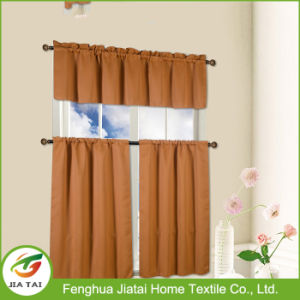 Cheap Custom Country Kitchen Valances Brown Kitchen Curtains in Kitchen Window pictures & photos
