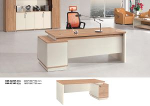Modern Straight MDF Wood Office Computer Desk pictures & photos
