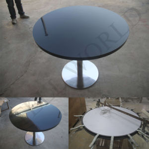 Wholesale Manufacturer White High Glossy Corian Acrylic Soild Surface Restaurant Table Chairs pictures & photos