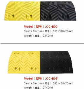 Recycled LDPE Traffic Speed Bumps for Car Reduction pictures & photos