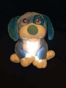 Flash Light Plush Blue Puppy Dog pictures & photos