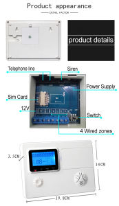 Wireless GSM+PSTN Panel Alarm System with APP SMS pictures & photos