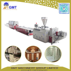 WPC PVC Wood+Composite Plastic Wall Panel Exterior Making Machine Extruder pictures & photos