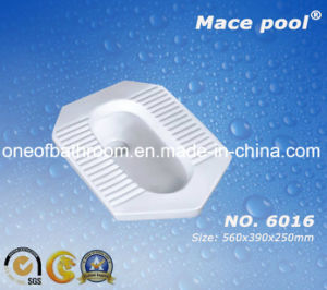 Water Saving Sanitary Wares Competitive Ceramic Toilet Squatting Pan W. C (6016) pictures & photos