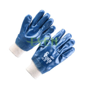 Anti-Cutting Nitrile Jersey Coated Industrial Safety Work Glove (D15-Y1) pictures & photos