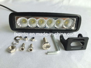 Hot Sale 18W Epistar LED Working Light Bar for Tractor/Truck/Offroad/4X4 Vehicle pictures & photos