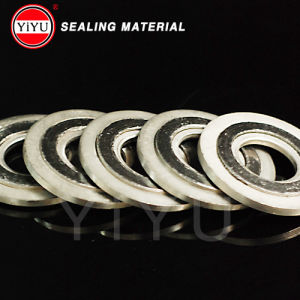 Flexible Graphite Spiral Wound Gasktet with Inner and Outer Ring pictures & photos