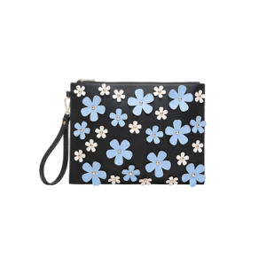 Flower Appliques Leisure Fashion Wristlet Clutches (MBNO042118) pictures & photos