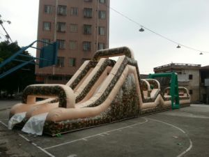 12m Length Kids Inflatable Obstacle Course Competition Running Games pictures & photos