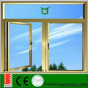 Low Price Aluminum Casement Door with Asian Standard, Outward Casement Window and Door with Tempered Glazing pictures & photos
