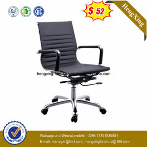 Leather Middle Back Manager Chair Chrome Metal Office Chair (Hx-801b) pictures & photos