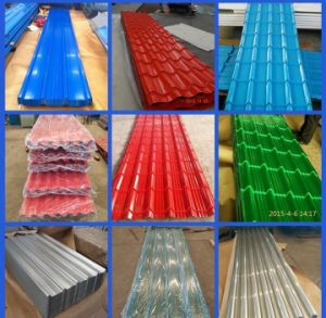 Competitive Price Prepainted Galvanized Aluzinc Corrugated Steel Roofing Sheet pictures & photos