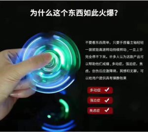 Hot Sale LED Hand Spinner Transparent LED Light Hand Spinner Fidget Crystal Plastic for Everyone pictures & photos