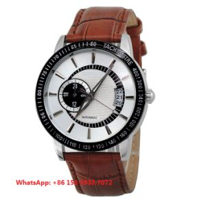 Wonderful Great Automatic Men′s Watches with Genuine Leather Strap Fs657 pictures & photos
