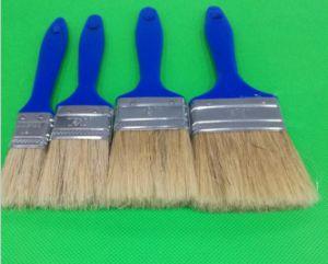 Hazw White Bristle Mix Filament with Blue Plastic Handle Paint Brush pictures & photos