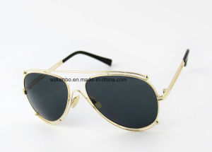 Pilot Style Frame with Extra Outline of Frame Design Metal Sunglasses Km16147 Fashion and Colourful pictures & photos