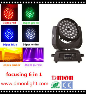 36*10W LED Moving Head Light 6 in 1 Rgbeyp LED Stage Lighting pictures & photos