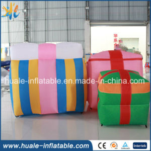 Hot Sale Christmas Inflatable Decoration, Inflatable Gift Box for Sale