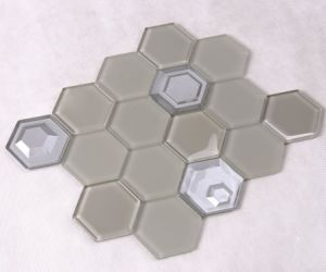 Wall Decorative Bathroom Glass Hexagon Mosaic Tile pictures & photos