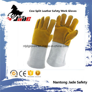Cowhide Split Leather Industrial Safety Welding Work Glove pictures & photos