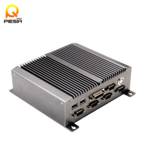 Embedded Industrial Computer Mini PC - Intel Atom D525 with 2 LAN Ports Firewall Mainboard pictures & photos