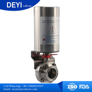 """2.5"""" Sanitary Ss304 Triclover Pneumatic Actuator Butterfly Valve pictures & photos"""
