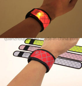 OEM Nylon Adjustable LED Reflective Flashing Work Sport Bracelet pictures & photos