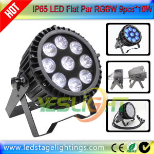 High Power LED Flat PAR Light Waterproof 9PCS*10W RGBW by Factory pictures & photos