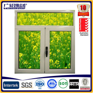 High Quality Aluwood Casement Window with Built in Blades pictures & photos