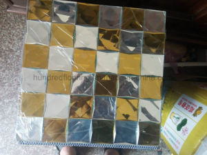Gold and Silver Diamond Mirror Mosaic Tile (HD091) pictures & photos